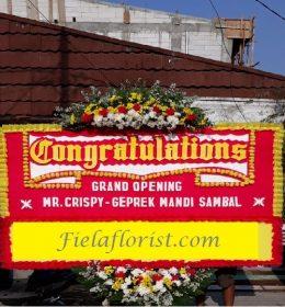 Bunga Papan Congratulations FF-017 adalah sebuah rangkaian bunga papan untuk memberi ucapan selamat & sukses.
